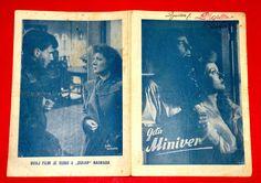 MRS. MINIVER 1940's GREER GARSON WALTER PIDGEON TERESA WRIGHT EXYU MOVIE PROGRAM