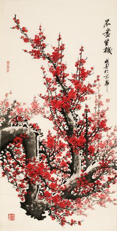 Chinese plum blossom painting