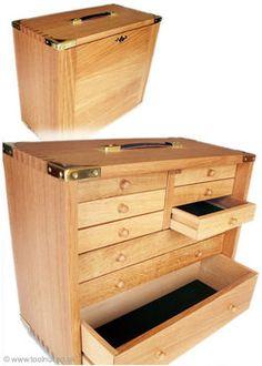 Wooden Tool Box - English Oak