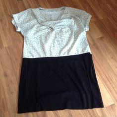 Loft Polka Dot Dress 8 Gap Maternity Color-block Dress M ,Black and White,great with tights :) LOFT Dresses
