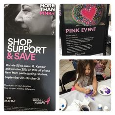 Join us at @tyronesqmall for a fun and creative rock painting party until noon today! Your $10 donation buys supplies and a Susan G. Komen coupon book good through the end of October!
