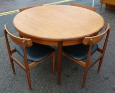 G Plan Round Extending Dining Table And Four Chairs