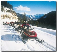 Snowmobile Tour to Old Faithful in Yellowstone National Park, such fun!