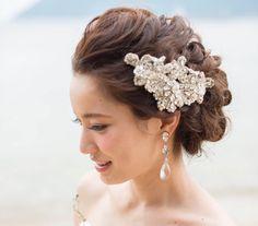 %e3%83%a1%e3%82%a4%e3%83%b3 Wedding Tiara Hairstyles, Bridal Hairdo, Hairdo Wedding, Dress Hairstyles, Bride Hairstyles, Wedding Party Hair, Hair Arrange, Hair Setting, Bridal Hair Accessories