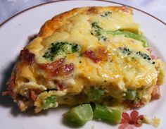 Facebook Pinterest PrintIngredients 1 tablespoon extra-virgin olive oil, plus extra for baking dish 1/2 large onion, diced 2 cups broccoli florets, cut into 1-inch pieces 4 large eggs 1 cup low-fat (1%) milk 1/3 cup freshly grated Pecorino Romano cheese 1/2 teaspoon fine sea salt …