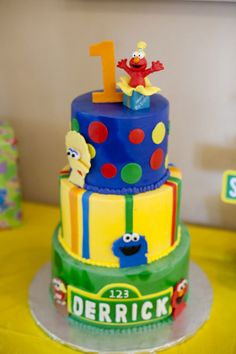 Real Party: A Happy Elmo Sesame Street First Birthday Party   Baby Lifestyles