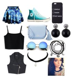"""""""ootd ❤"""" by lourdespaz ❤ liked on Polyvore featuring Chicwish, Bebe, Converse and Kate Spade"""