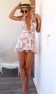 Mura Online Fashion Boutique | Bright Blush Playsuit