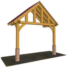 2 POST PORCHES — TIMBER FRAME PORCHES Front Door Awning, Front Porch, Porch Timber, Carport Designs, Gazebo Pergola, Canopy Outdoor, Post And Beam, House With Porch, Exterior Doors