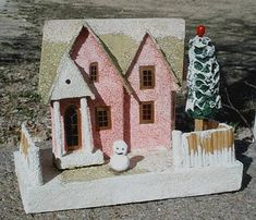 restoring old Christmas putz houses