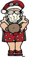 MelonHeadz: Warm weather Santa :)