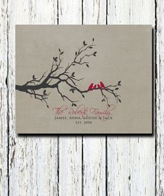 Custom Family Tree with family name, children's names, established date, Wall Art Print for the home 8 x 10 Custom colors and fonts