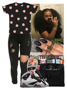 """""""Peaches"""" by jasmine1164 ❤ liked on Polyvore featuring Rifle Paper Co and Retrò"""