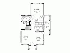 Eplans Country House Plan main floor - Two Bedroom Country - 1035 Square Feet