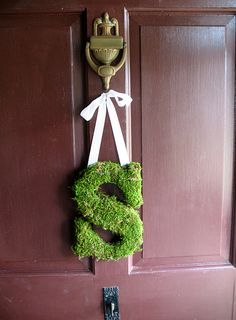 Do it yourself moss letters