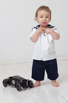 Navy blue baby boy sailor outfit, baptism / christening baby boy outfit, boy party suit, birthday boy outfit, first birthday boy clothes - $80 - I WILL FIND THIS!