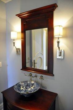 Decorative oriental bowl vessel sink
