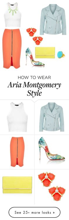 """""""Aria Montgomery- Work"""" by allycatstar on Polyvore featuring Christian Louboutin, Topshop, Kate Spade, Henri Bendel and Rebecca Minkoff"""