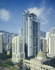 Central Hong Kong, em meados da década de 1980