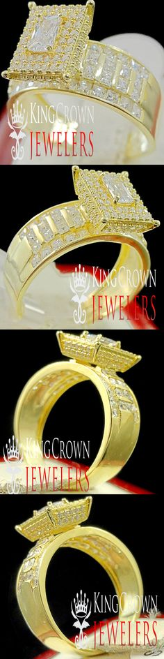 Other Wedding and Anniv Bands 92866: Bridal Ring Real Yellow Gold Silver Ladies Wedding Engagement Band Simu Diamond -> BUY IT NOW ONLY: $69.99 on eBay!