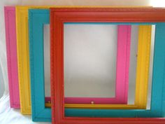 Simple DIY, inexpensive, colourful photo frames!