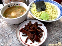 "How to and tips on eating Tsukemen ramen, or ""dipping noodles,"" by Nom Nom Cat. Our Growing Edge: A monthly blogging event on new foodie experiences. Foodie bucket lists, recipes, tips, triumphs, failures, reviews and more."