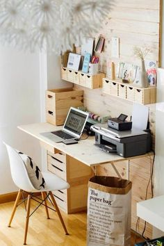 Beautiful home office designs create comfortable work spaces with great storage