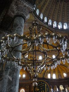 Up close chandelier in the Hagia Sophia