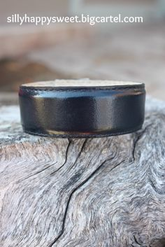 This navy blue leather cuff looks almost black but it isn't. Ready for you to customize and design. Details at the shop. #leather #leathercuffs #cuff #inspirationcuffs
