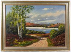 Lot 269: O. Klein (American, 20th Century) Oil on Canvas Board; Undated, signed lower right, depicting a summer landscape