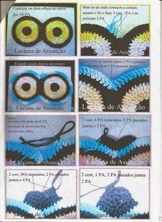 Artes da Abelha Rainha: Jogo de banheiro coruja de crochê Crochet Eyes, Crochet Art, Crochet Home, Owl Crochet Patterns, Owl Patterns, Owl Bathroom Set, Owl Rug, Owl Crafts, Crochet Kitchen