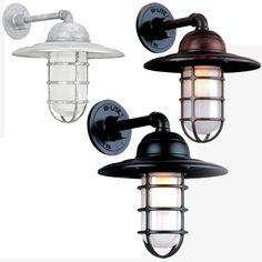 Hi-Lite Manufacturing RLM Saucer Vapor Jar Exterior Wall Light Sconce - HLT-saucer-vapor-jar-wall-1b. $158.00