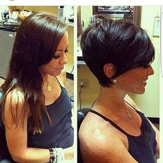 Ok who went Pixie because of this but by @dillahajhair on @julia_foronda ?. ♣♦♥♠
