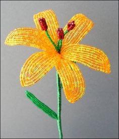Lily tutoriel fleur perlée par BeadedGarden sur Etsy