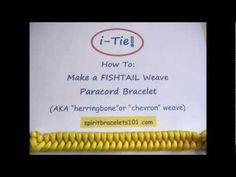 How To Make A Fishtail Paracord Bracelet - Video Tutorial. Safe for kids to watch. The i-Tie! Paracord Bracelet Maker www.spiritbracelets.com
