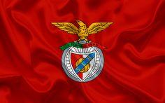 Download wallpapers Benfica FC, Football club, emblem, Benfica logo, Lisbon, Portugal, football, Portuguese football club