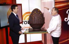 Jacques Torres is attempting to break chocolate egg world record