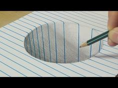 Math Art with a Möbius Strip Drawing a Round Hole - Trick Art with Graphite Pencil - By Vamos - YouT Drawings On Lined Paper, 3d Drawings, 3d Art On Paper, Music Paper, 3d Art Drawing, Drawing For Kids, Drawing Tips, Drawing Ideas, Drawing Tutorials