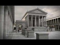 Reconstrucción infográfica del Foro de Pompeya. 3d virtual reconstruction of the forum of Pompeii.