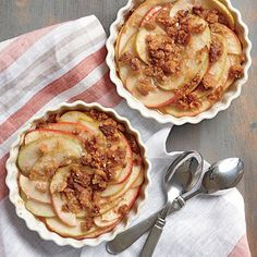 You can also peel and coarsely chop the apples, if you prefer. For more tender apples, decrease the heat to 400° and bake 5 to 10 minutes...