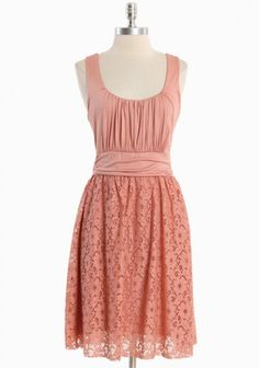 love the dress, not so crazy about the color ~ Meeting Before Dark Lace Dress In Peach from Ruche
