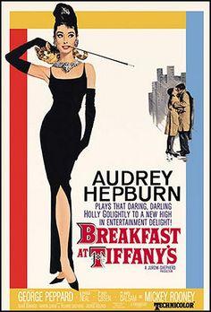 Vintage Movie Poster--Audrey Hepburn--Breakfast at Tiffany's