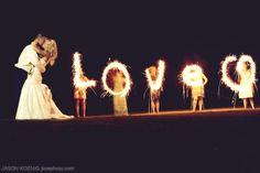 Wedding Sparklers Love