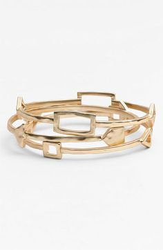 Nordstrom Tribal Cutout Bangles (Set of 3) available at #Nordstrom