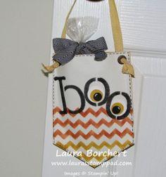 Technique Tuesday – Boo Banner Bags!! www.LaurasStampPad.com