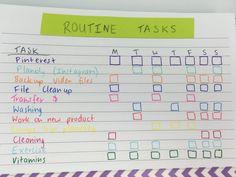 habit tracker ideas bullet journal tasks bujo colorful creative weekly planner spread washi tape triplus pen inspiration diy use empty notebook productivity hack