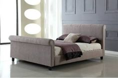 The Jalisa bed merges simplicity and elegance flawlessly to deliver a chic style of bed that blends in well with both modern and traditional settings. Chenille Fabric, Fabric Beds, Faux Fur Accessories, Mink Colour, Comfort Mattress, Leather Bed, Sleigh Beds, Stylish Beds, Double Beds