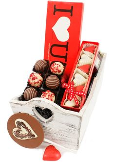 Our Valentine's Hugs n Kisses Chocolate Box  www.eden4chocolates.co.uk Chocolate Gifts, Chocolate Box, Delicious Chocolate, Hugs N Kisses, Gifts Delivered, Flowers Delivered, Chocolates, Bouquet, Valentines