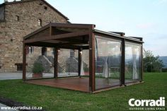 COBERTI Pergotenda 120 para jardin. #pergola #pergotenda #120 #madera #jardin #corradi #coberti #malaga