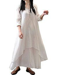 Vintage Women Long Sleeve V Neck Irregular Maxi Dress Online - NewChic Long  Dresses, Fall 44ebac6d6e6